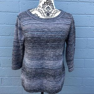 Christopher & Banks Gray Knit Top